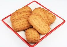 Biscuits de plaque Images libres de droits