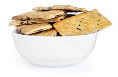 Biscuits de plat images stock