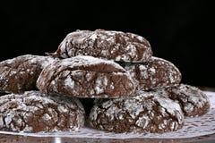 Biscuits de pli de chocolat image libre de droits