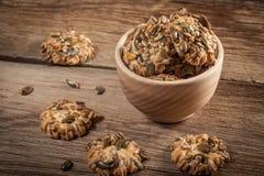 Biscuits de potiron Image libre de droits