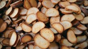 Biscuits de produits finis Un groupe de biscuits banque de vidéos