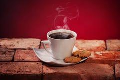 Biscuits de puce de café et de chocolat Photos libres de droits