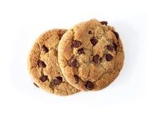 Biscuits de puce de Choc (chemin compris) Images libres de droits