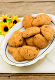 Biscuits de puce de chocolat photo stock