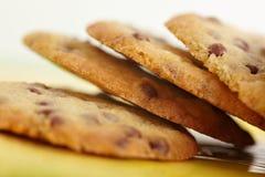Biscuits de puce de chocolat Image stock