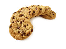 Biscuits de puce de chocolat 4 (chemin compris) Photo stock