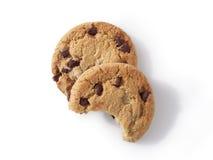 Biscuits de puce de chocolat 7 (chemin compris) Image libre de droits