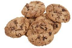 Biscuits de puce de chocolat délicieux images libres de droits