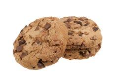 Biscuits de puce de chocolat délicieux Images stock