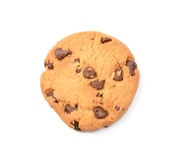 Biscuits de puce de chocolat d'isolement sur le fond blanc Photos libres de droits