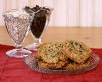Biscuits de puce de chocolat de farine d'avoine Image libre de droits