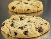 Biscuits de puce de chocolat mous et caoutchouteux image stock