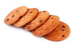 Biscuits de puce de chocolat simples Photos stock