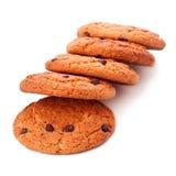 Biscuits de puce de chocolat simples Images stock
