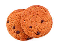 Biscuits de puce de chocolat simples Image libre de droits