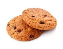 Biscuits de puce de chocolat simples Photographie stock libre de droits