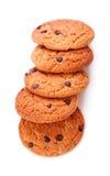 Biscuits de puce de chocolat simples Photo stock