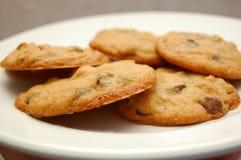Biscuits de puces de chocolat photographie stock libre de droits