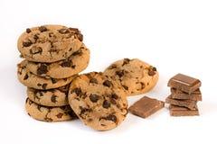Biscuits de puces de chocolat Image libre de droits