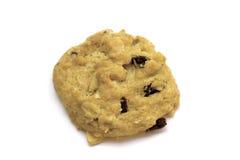 Biscuits de puces de chocolat sur le blanc Photographie stock
