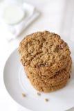 Biscuits de raisin sec de farine d'avoine Image libre de droits
