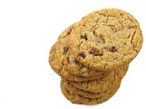 Biscuits de raisin sec de farine d'avoine Photo libre de droits