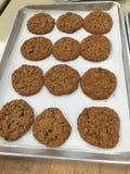 Biscuits de raisin sec de farine d'avoine Photos stock