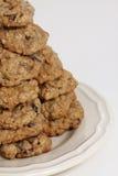 Biscuits de raisin sec de farine d'avoine Photographie stock libre de droits