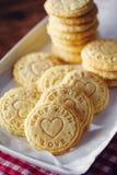 Biscuits de relief de beurre photographie stock