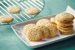 Biscuits de relief de beurre photo libre de droits