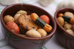 Biscuits de riz Photo stock