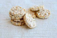 Biscuits de riz Photos libres de droits