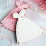 Biscuits de robe de mariage photos stock