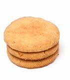 Biscuits de sablé d'isolement sur le blanc Photographie stock