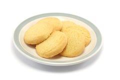 Biscuits de sablé d'une plaque Images stock