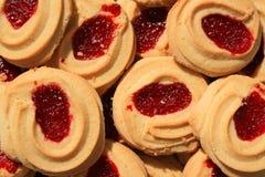 Biscuits de sablé de fraise photo stock