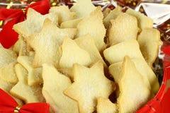 Biscuits de sablé de Noël Photographie stock