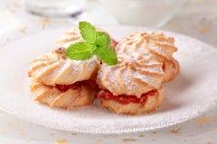 Biscuits de sandwich à la confiture Photographie stock