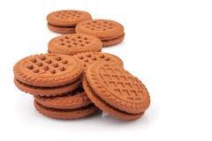 Biscuits de sandwich Images stock