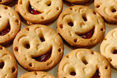 Biscuits de sourire Photographie stock