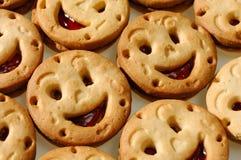 Biscuits de sourire photographie stock