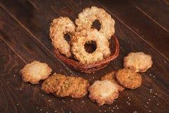Biscuits de sourire Image libre de droits