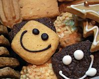 Biscuits de sourire - ressources de fond Photo stock