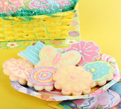 Biscuits de sucre de fleur et de guindineau Photo stock
