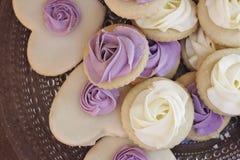 Biscuits de sucre en forme de coeur Images libres de droits
