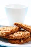 Biscuits de temps de café photos stock