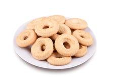 Biscuits de thé d'un plat Image libre de droits