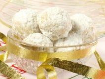 Biscuits de thé de Noël Image libre de droits