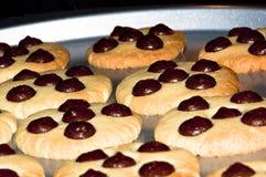 Biscuits de traitement au four Photos libres de droits