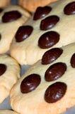 Biscuits de traitement au four Photographie stock libre de droits